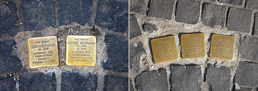 Stolpersteine in Eschweiler des Künstlers Gunter Demnig