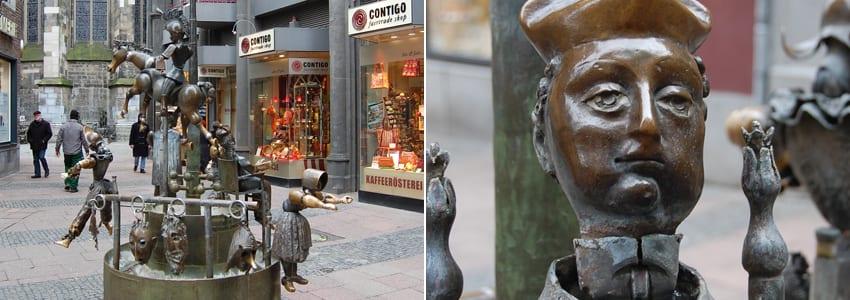 Puppenbrunnen In Aachens Fussg 228 Ngerzone Denkmalplatz