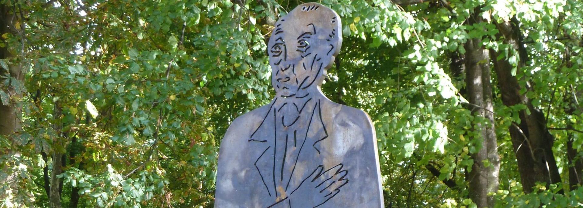 Konrad Adenauer Stahlrelief