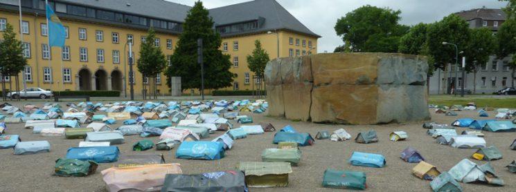 UN Flüchtlingslager in Düren