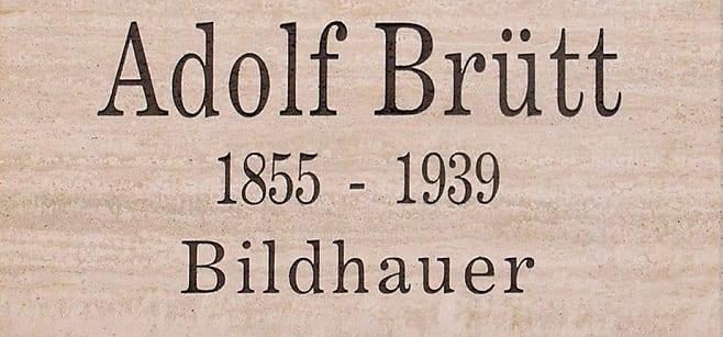 Adolf Brütt - Erinnerungstafel