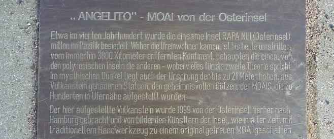 Moai Angelito – Denkmalplatz Hamburg