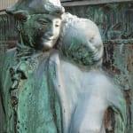 Fastnachtsbrunnen in Köln - tanzendes Paar