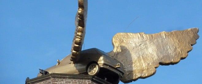 Flügelauto von H. A. Schult in Köln