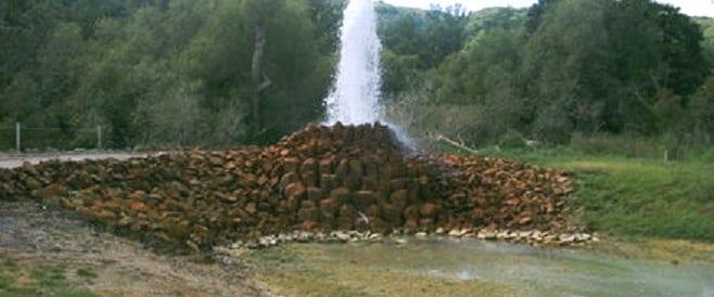 Kaltwasser Geysir in Andernach