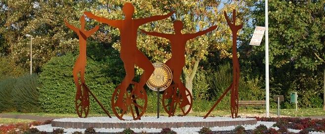 Kunstradsport – Denkmal in Oberaußem