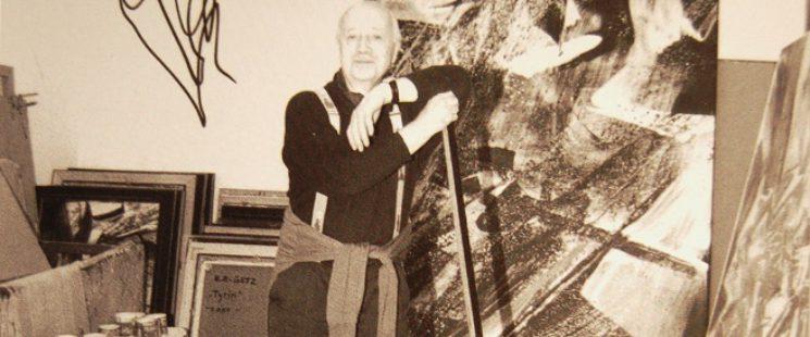 Karl Otto Götz in seinem Atelier