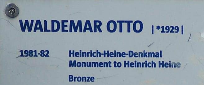 Waldemar Otto - Heinrich-Heine-Denkmal in Hamburg