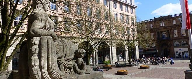 Johannes Rau Platz in Barmen